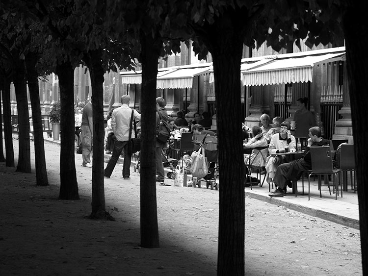 Cafe. Palais Royal, Paris 2007