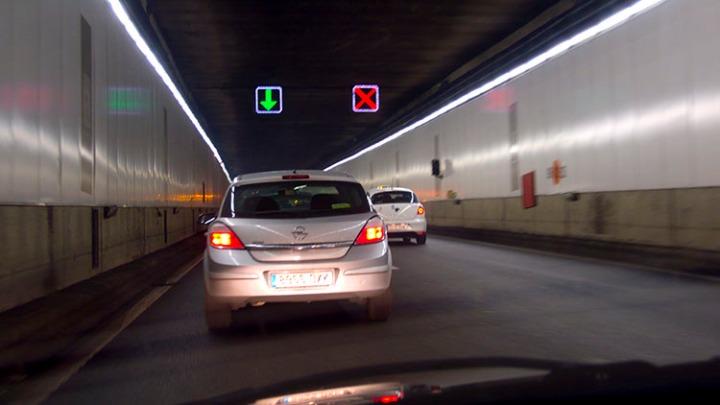 Accidente en el tunel de la M-30. Madrid 2008