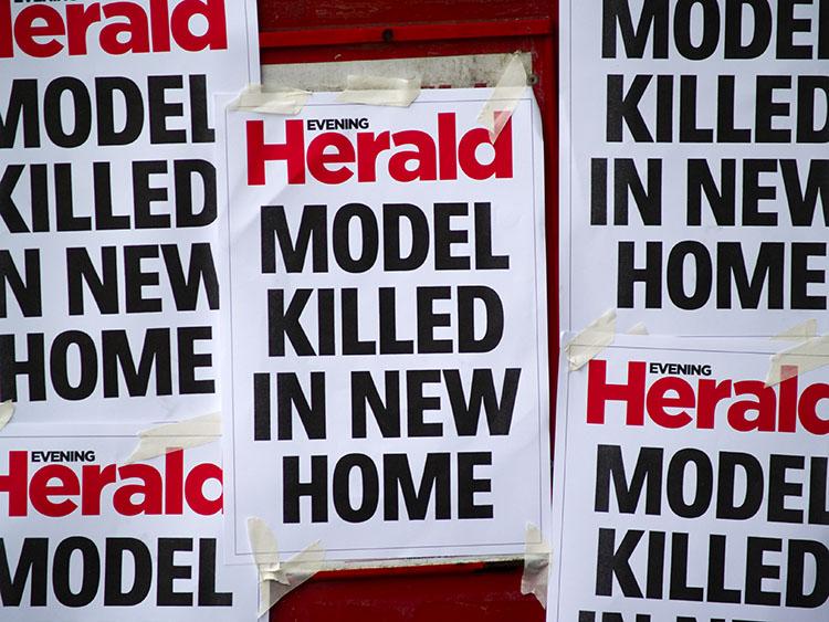 Model killed, Dublin 2009